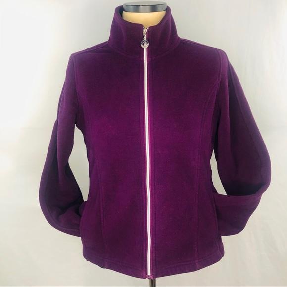 EStudio Jackets & Blazers - E Studio sz L Purple  Lined Fleece Zippered Jacket